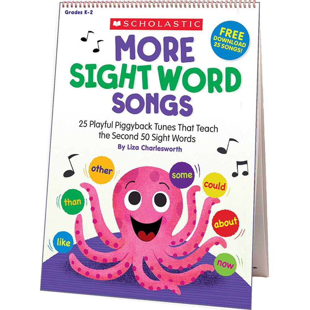 SC-831710 - More Sight Word Songs Flip Chart in Sight Words