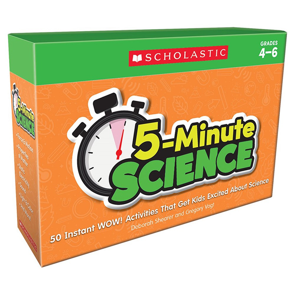 5-Minute Science: Grades 4-6 - SC-833012 | Scholastic Teaching Resources | Activity Books & Kits