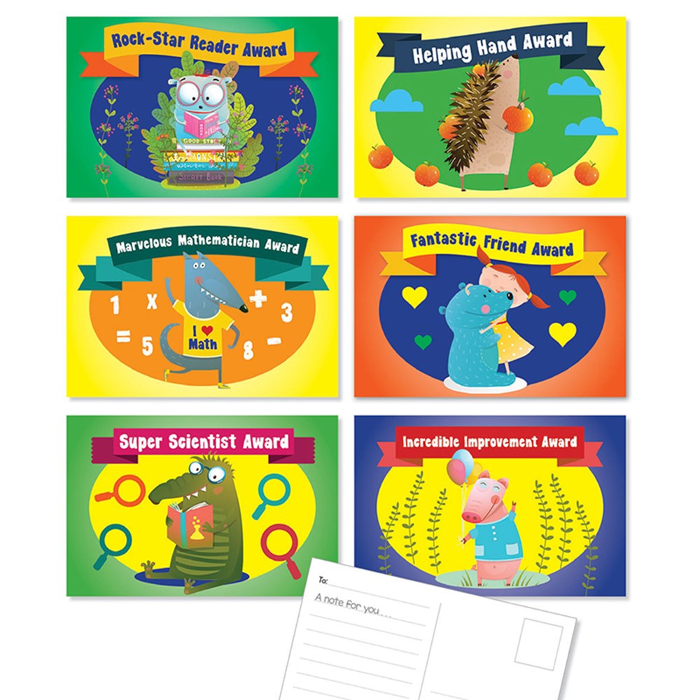 SC-834516 - Classroom Awards Postcards in Postcards & Pads