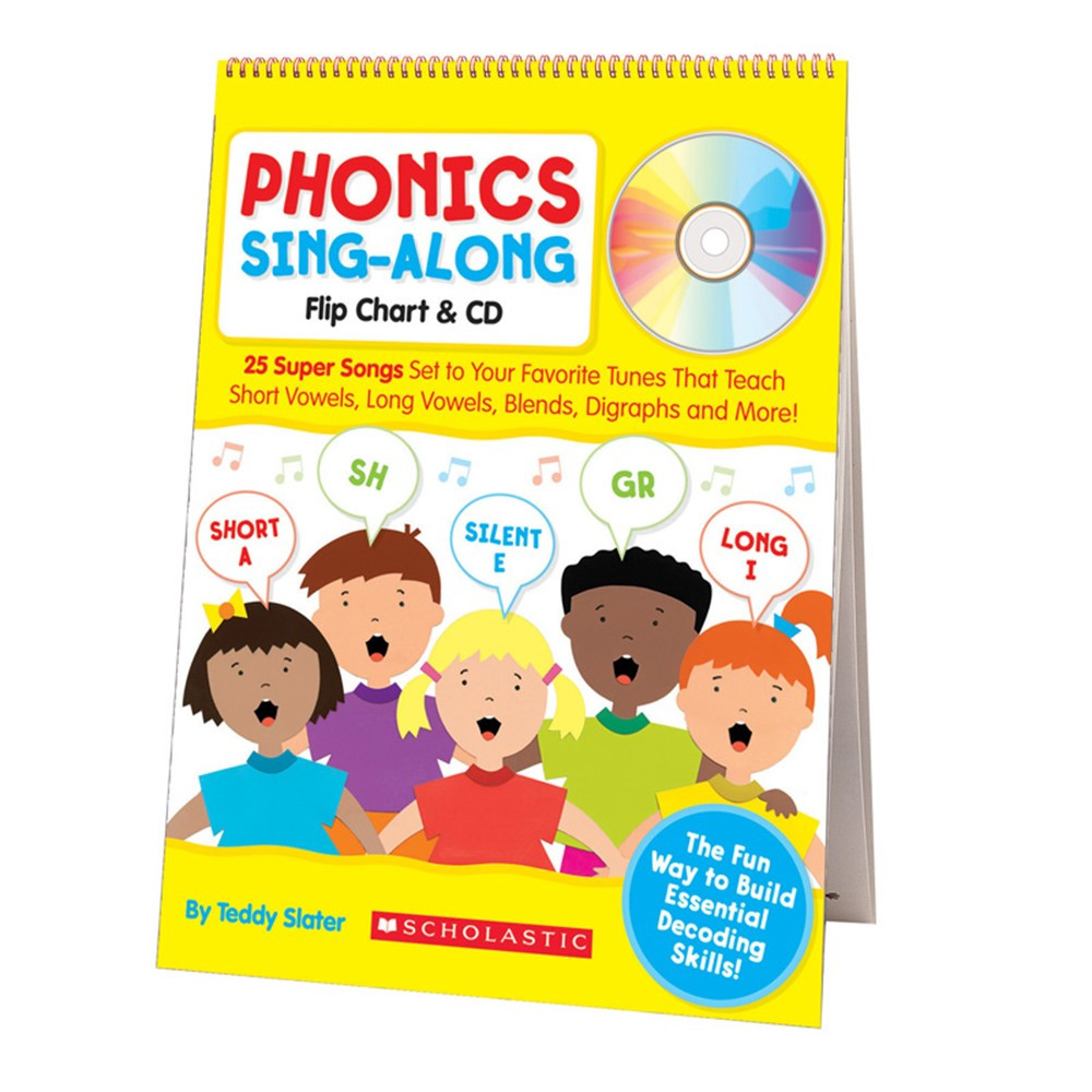 SC-9780545104357 - Phonics Sing-Along Flip Chart & Cd Gr K-2 in Language Arts