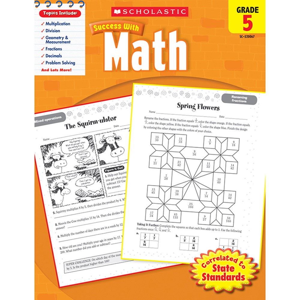 SC-9780545200677 - Scholastic Success With Math Gr 5 in Activity Books