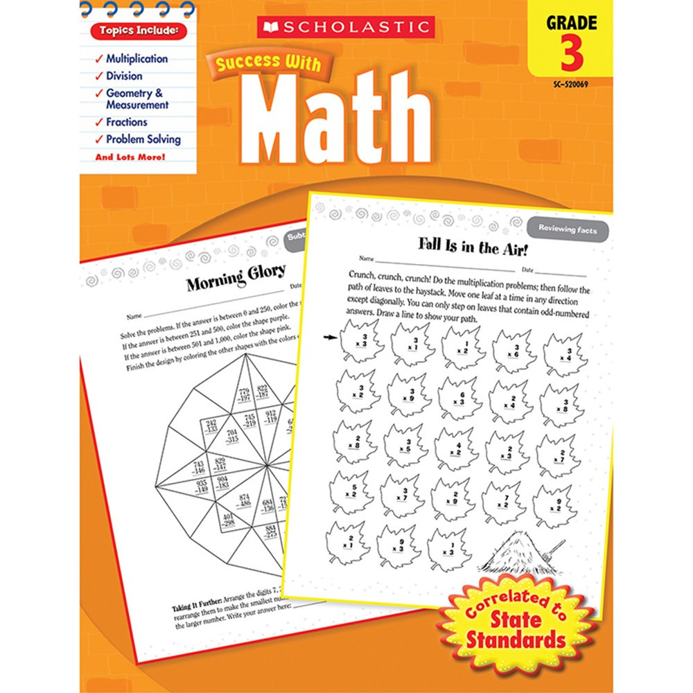 SC-9780545200691 - Scholastic Success With Math Gr 3 in Activity Books