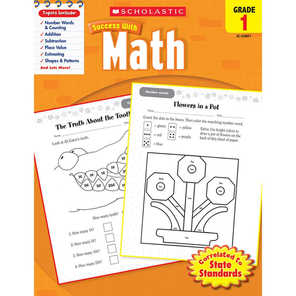 SC-9780545200714 - Scholastic Success With Math Gr 1 in Activity Books