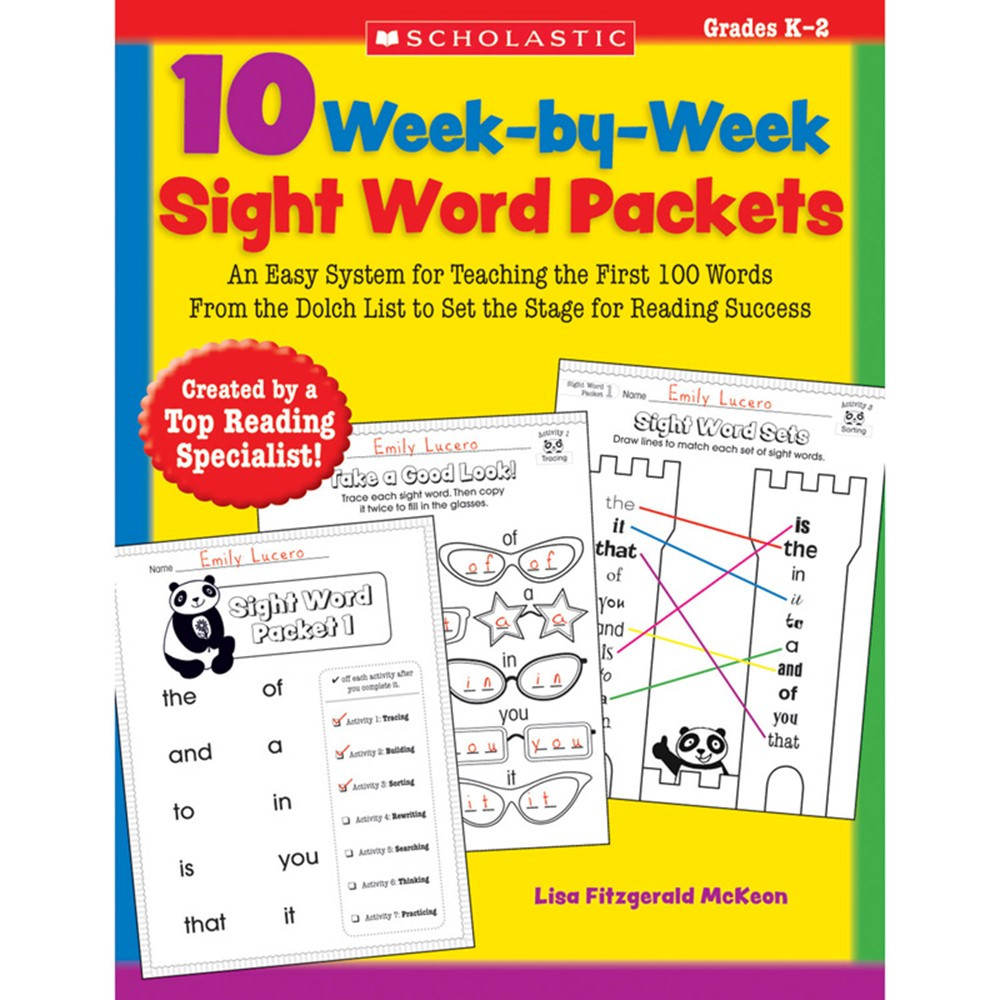 SC-9780545204583 - 10 Week By Week Sight Word Packets in Sight Words