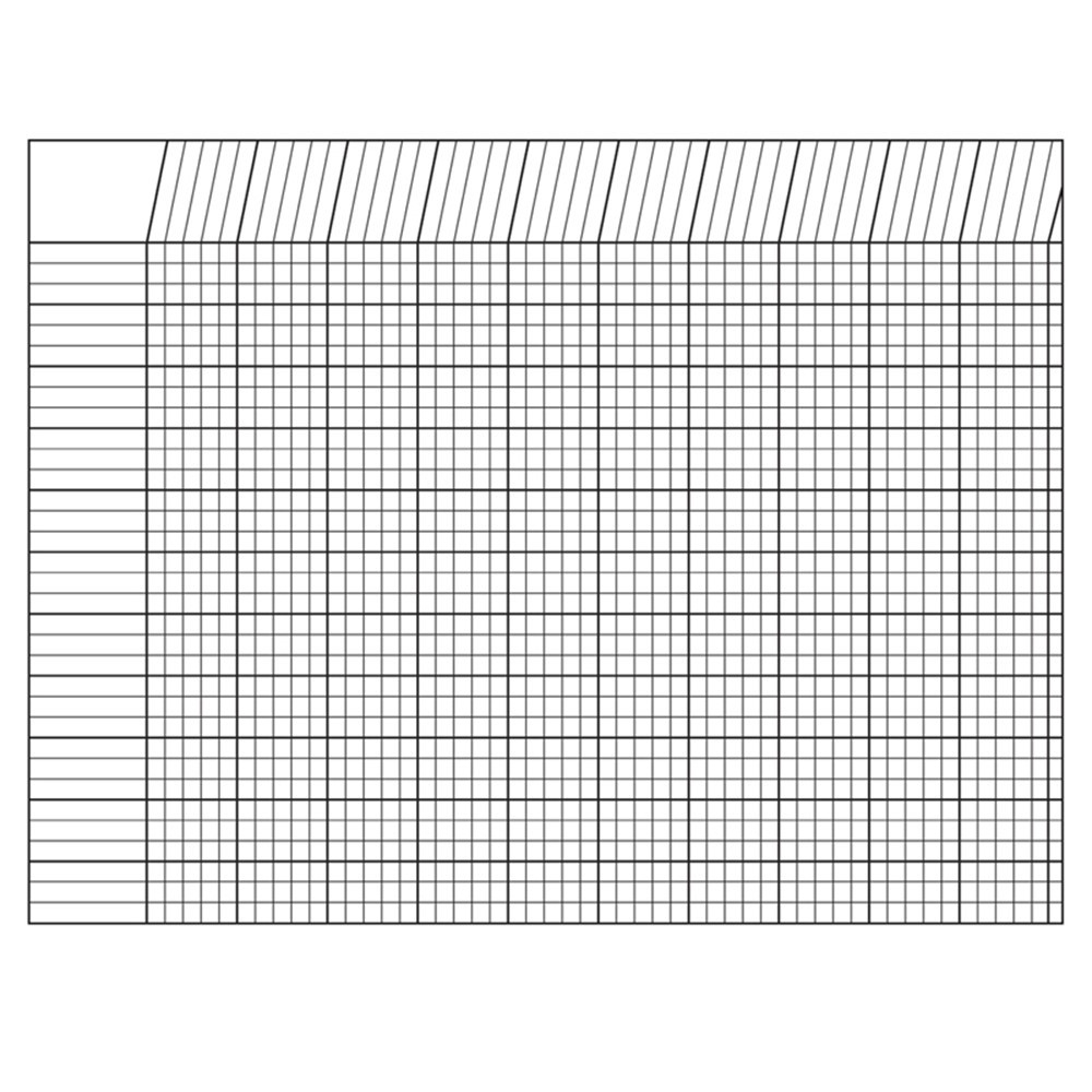 SE-3386 - Incentive Chart Horizontal White 28 X 22 in Incentive Charts