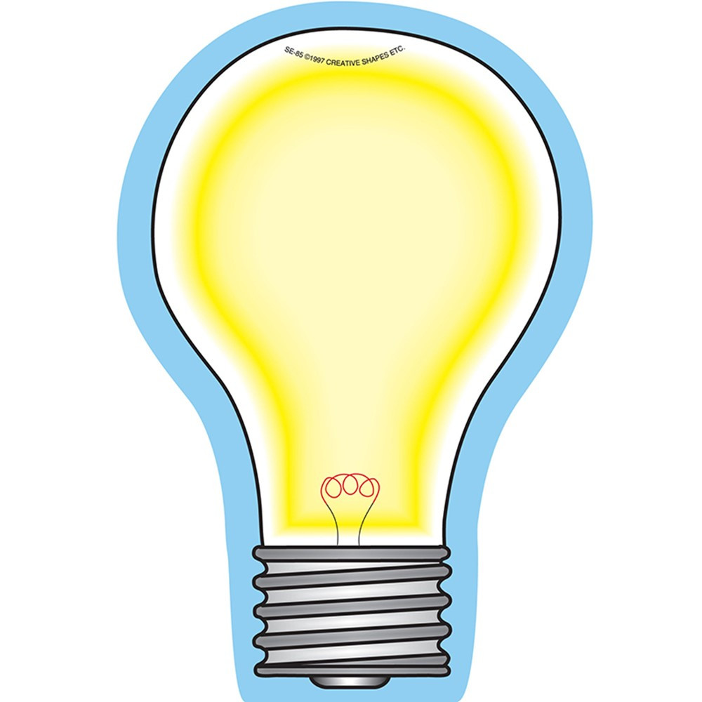 SE-85 - Light Bulb Large Notepad in Note Pads