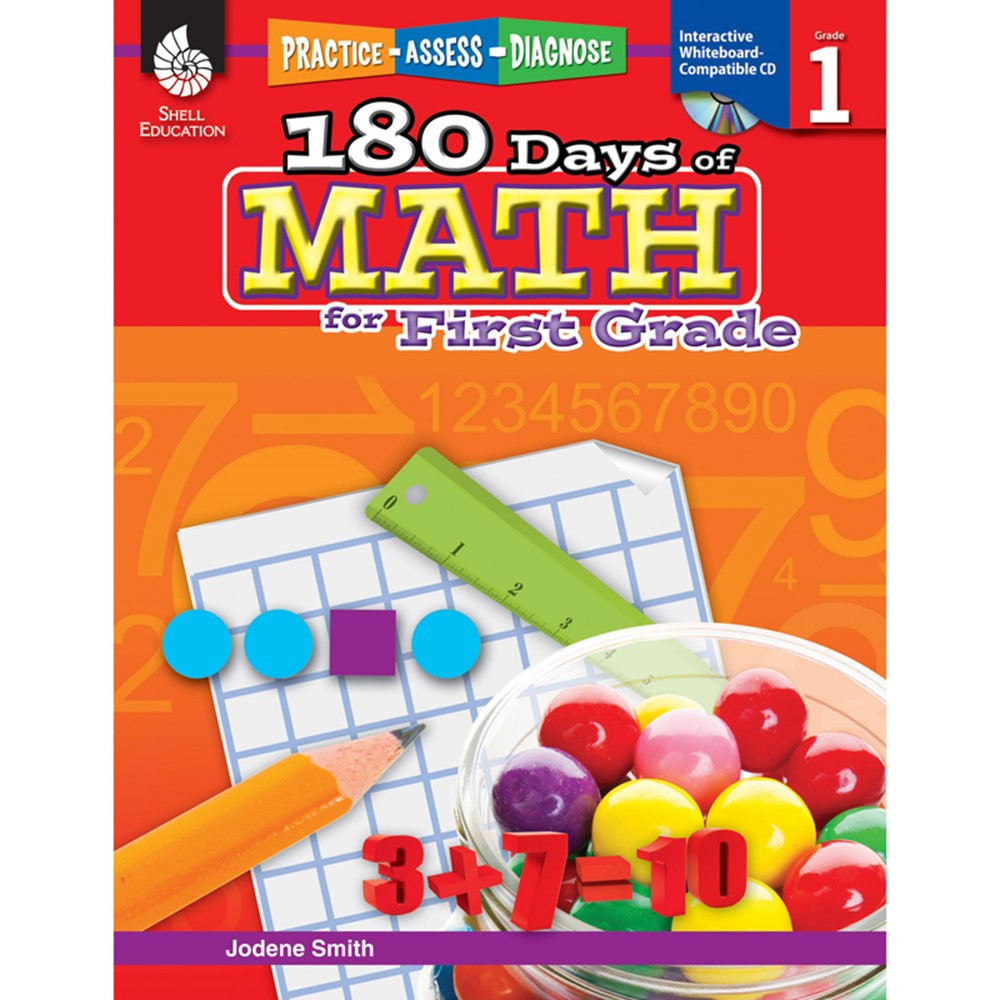 SEP50804 - 180 Days Of Math Gr 1 in Activity Books