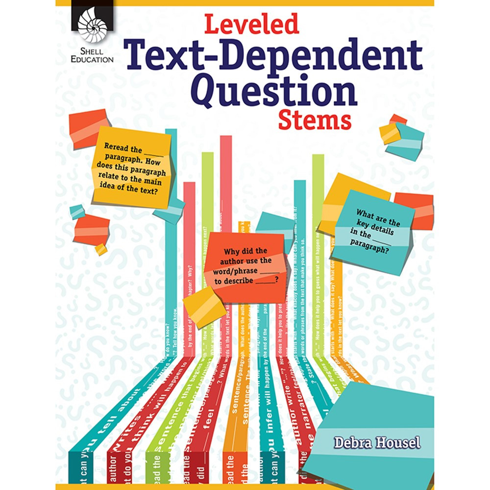 SEP51475 - Leveled Text Dependent Question Stems in Activity Books & Kits
