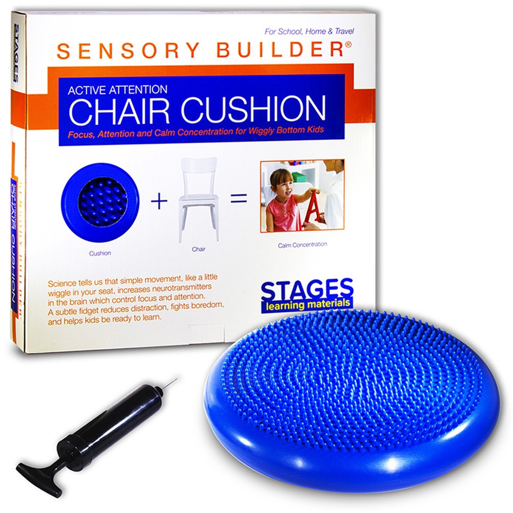 SLM2101 - Active Attention Chair Cushion Blue Sensory Builder in Floor Cushions