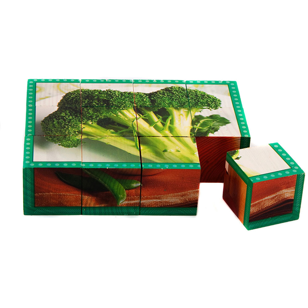 SLM402 - Vegetables Cube Puzzle in Health & Nutrition