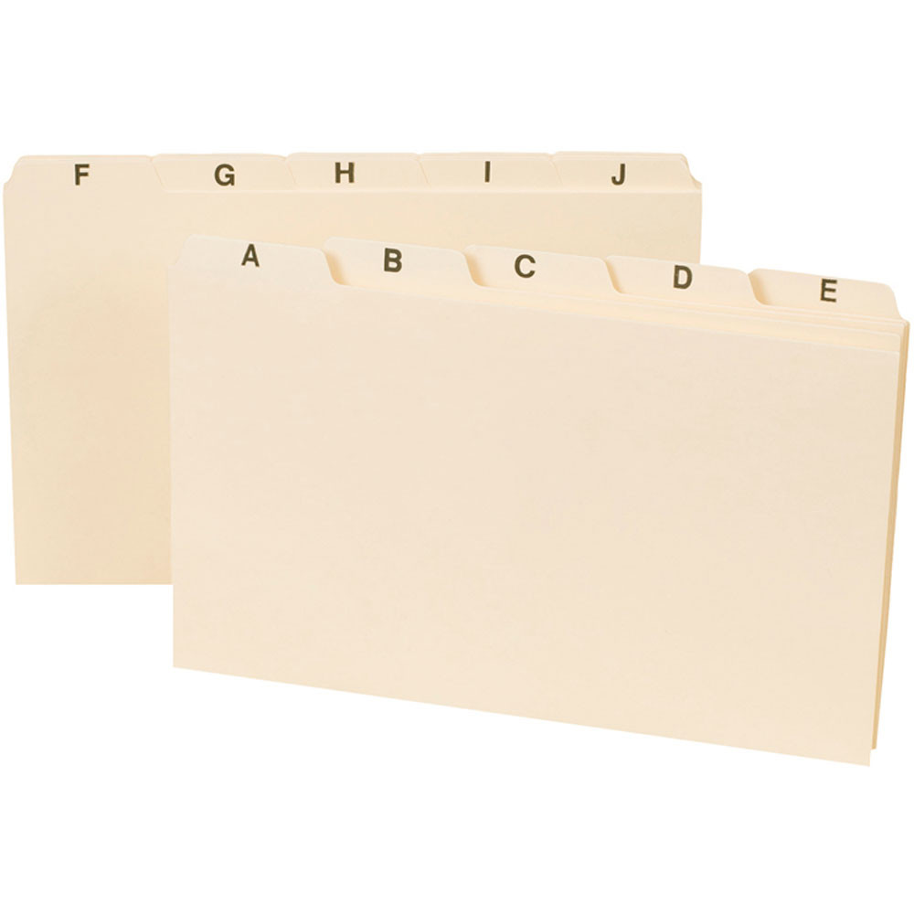 SMD57076 - Smead A-Z Index Card Guides 5 X 8 in Index Cards