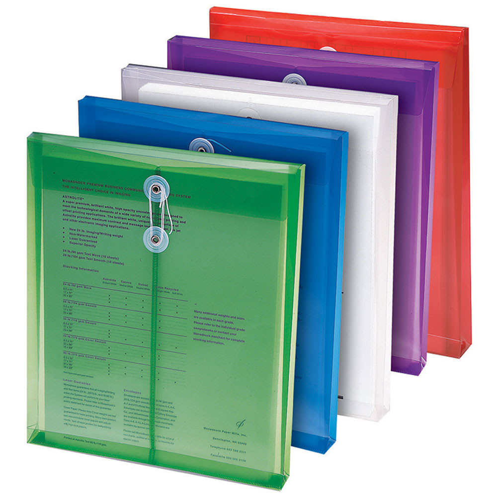 SMD89501 - Poly Color Envelopes 5Pk Assorted Colors in Folders