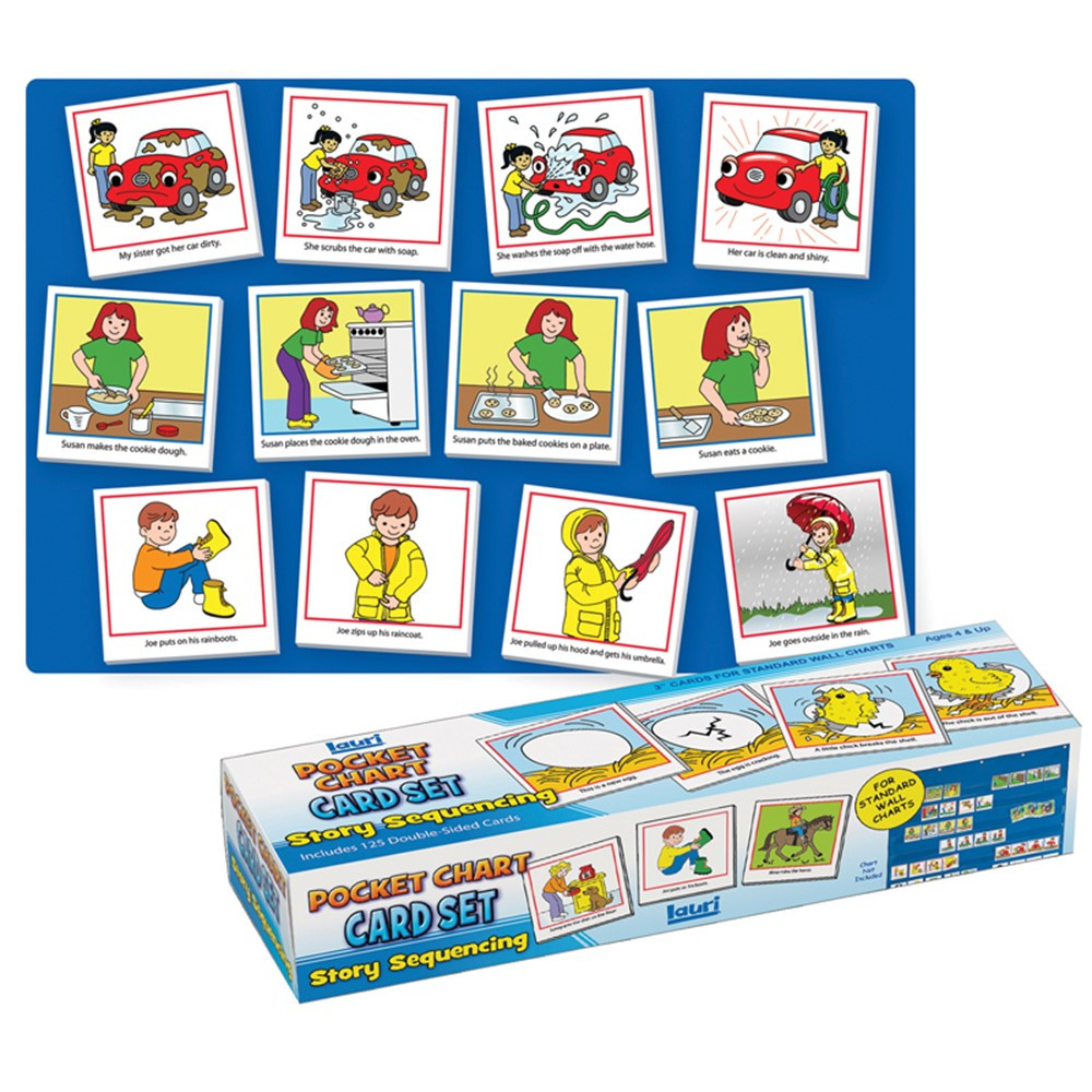 SME750 - Story Sequencing Wall Pocket Chart Card Set in Pocket Charts