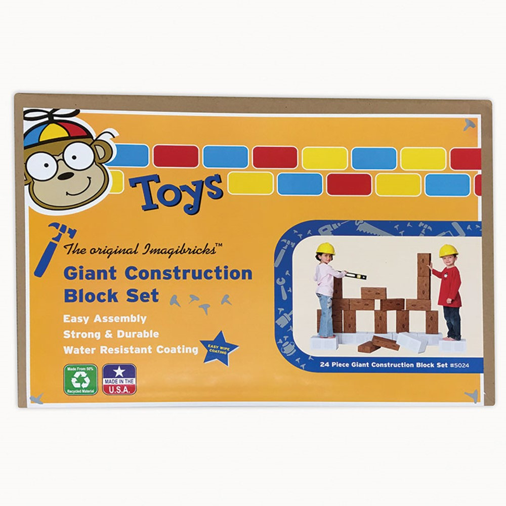 SMT5024 - Imagibricks Giant Building Construction Blocks 24/Set in Blocks & Construction Play