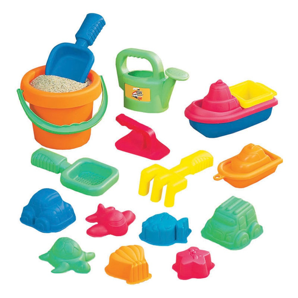 SWT4830311 - 15-Piece Toddler Sand Assortment in Sand & Water