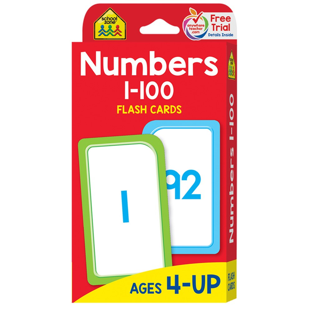 SZP04005 - Numbers 1-100 Flash Cards in Flash Cards