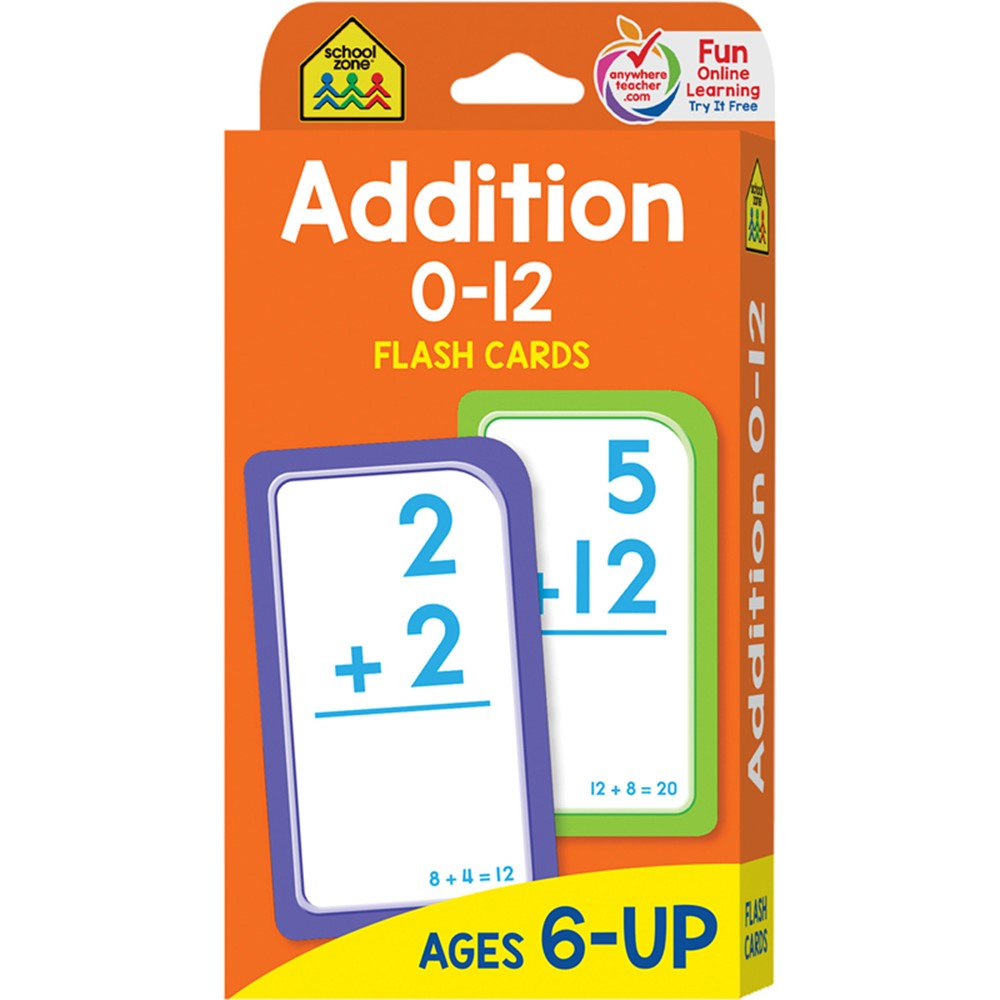 SZP04006 - Addition 0-12 Flash Cards in Flash Cards