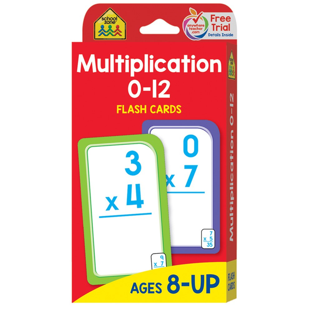 SZP04008 - Multiplication 0-12 Flash Cards in Flash Cards