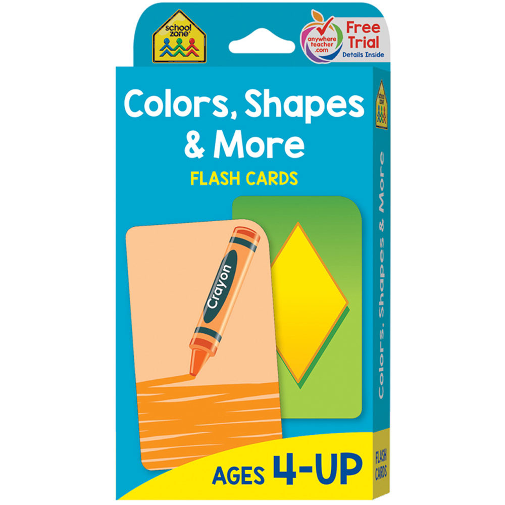 SZP04011 - Colors Shapes & More Flash Cards in Sorting