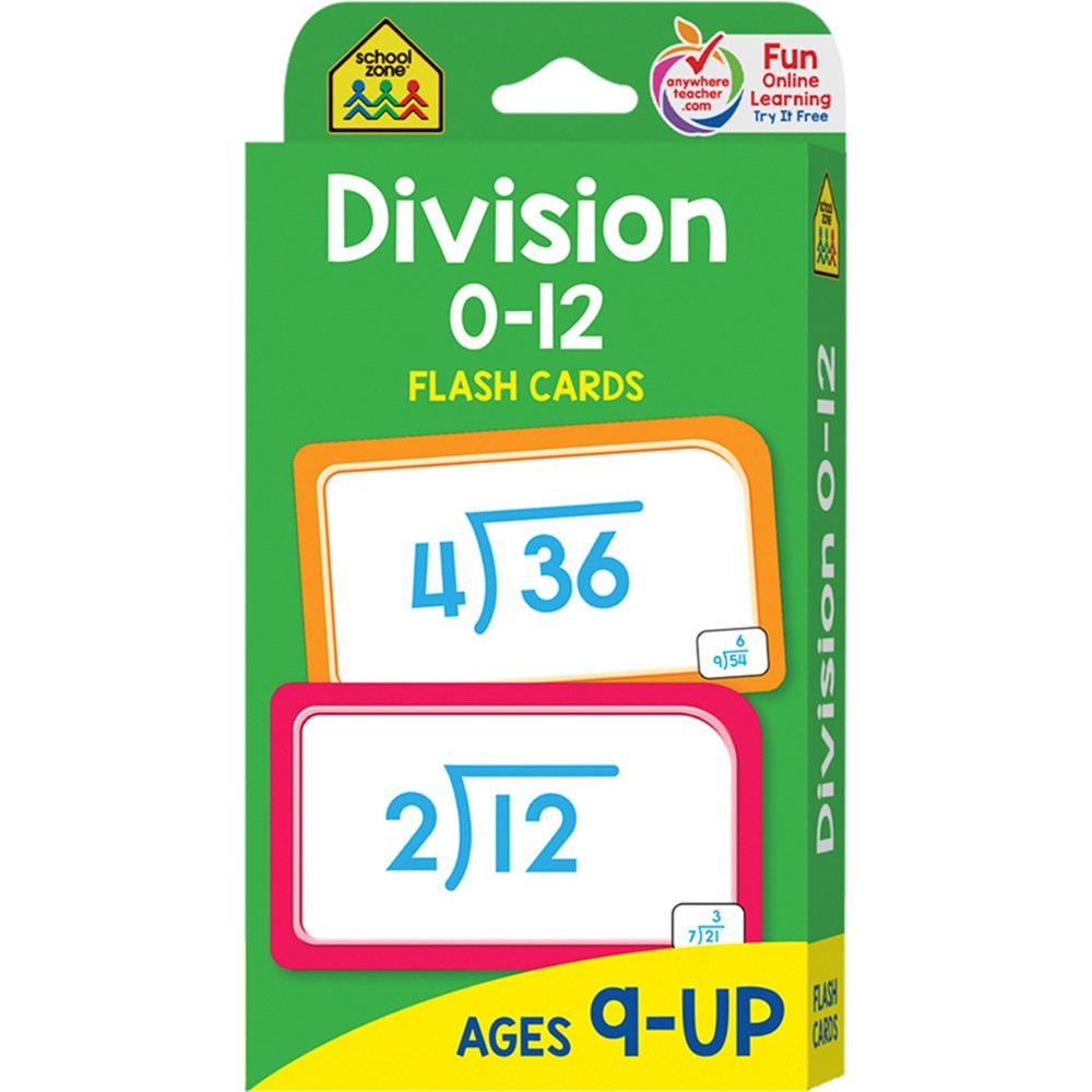 SZP04017 - Division 0-12 Flash Cards in Flash Cards