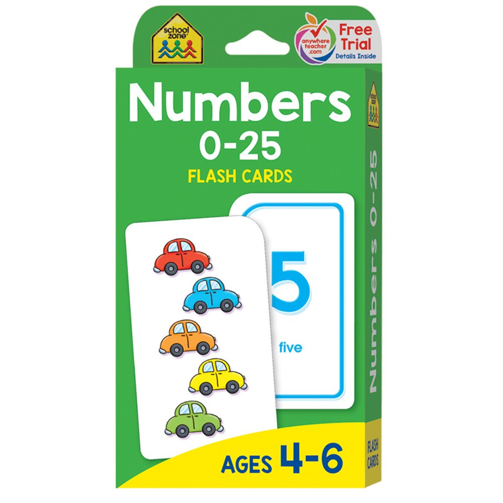 SZP04022 - Numbers 0-25 Flash Cards in Flash Cards