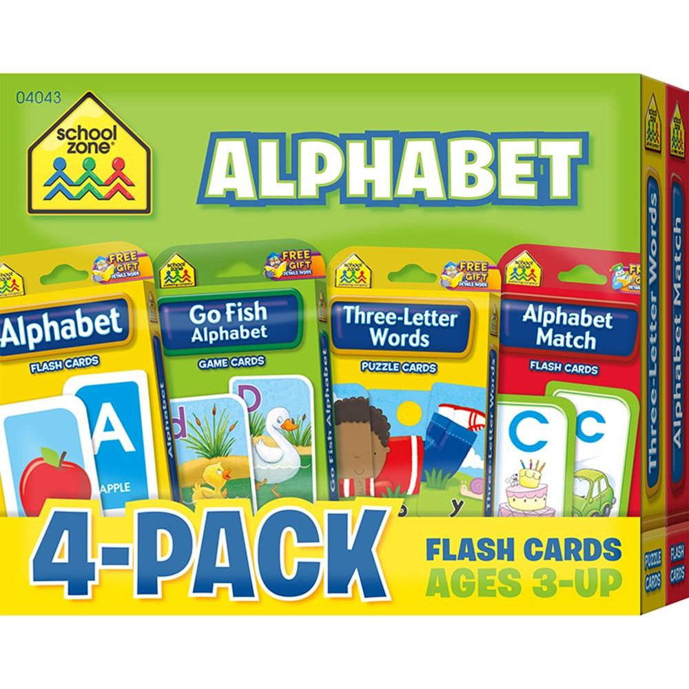SZP04043 - Alphabet Flash Cards 4 Pk in Letter Recognition