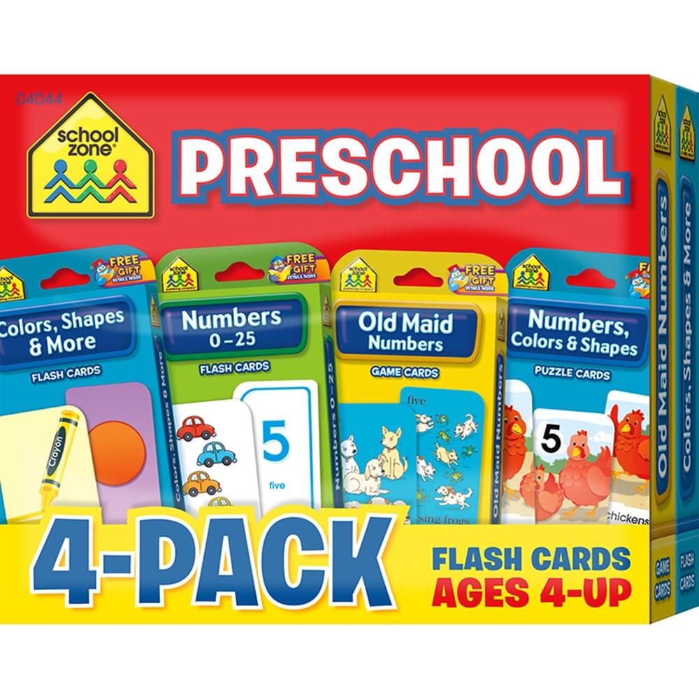 SZP04044 - Preschool Flash Cards 4 Pk in Resources