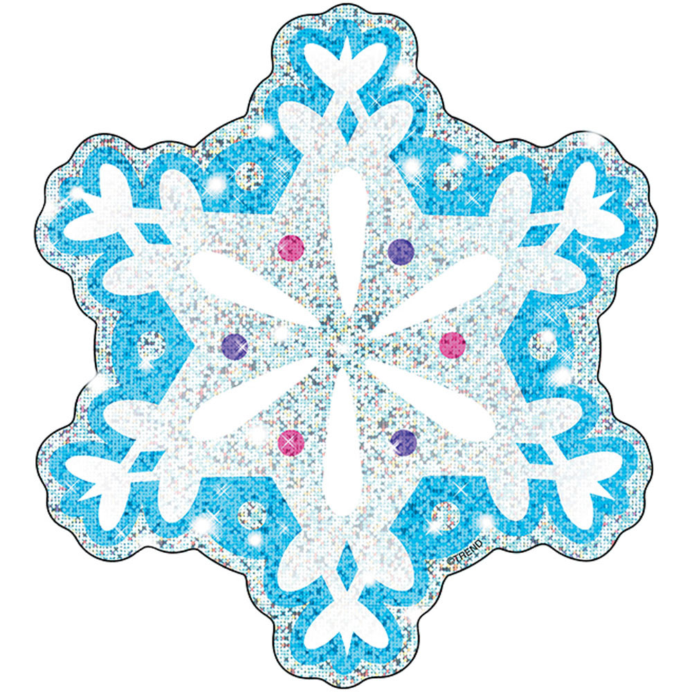 T-10008 - Shimmer Snowflakes 24/Pk Sparkle Accents 5X5 in Holiday/seasonal