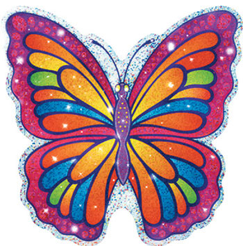 T-10012 - Sparkle Accents Butterflies 24/Pk 5 X 5 in Accents