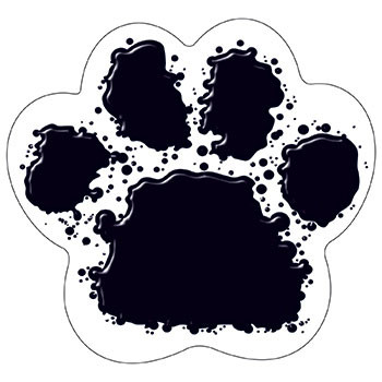 T-10089 - Black Paw Print Classic Accents in Accents