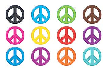 T-10856 - Peace Signs Solids Mini Accents Variety Pack in Accents