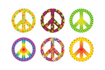 T-10878 - Peace Signs Patterns Mini Accents Variety Pack in Accents