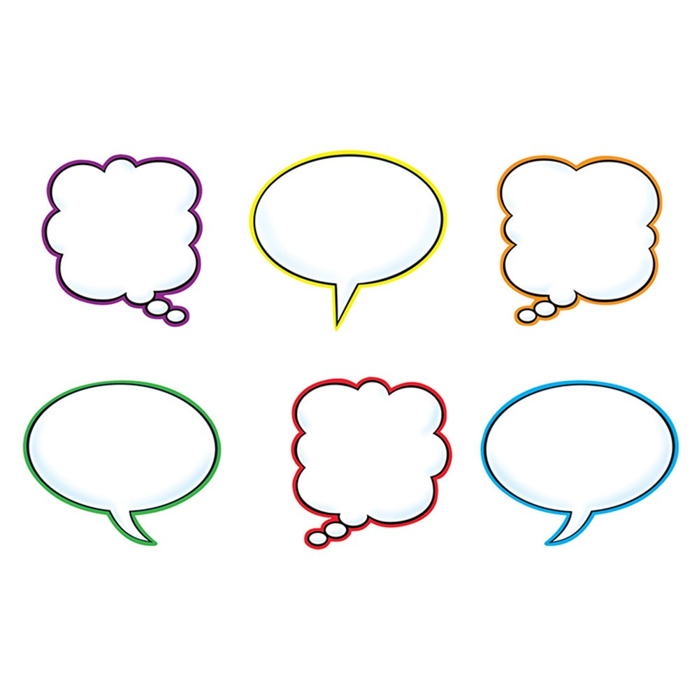 T-10928 - Speech Balloons Variety Pk Classic Accents in Accents