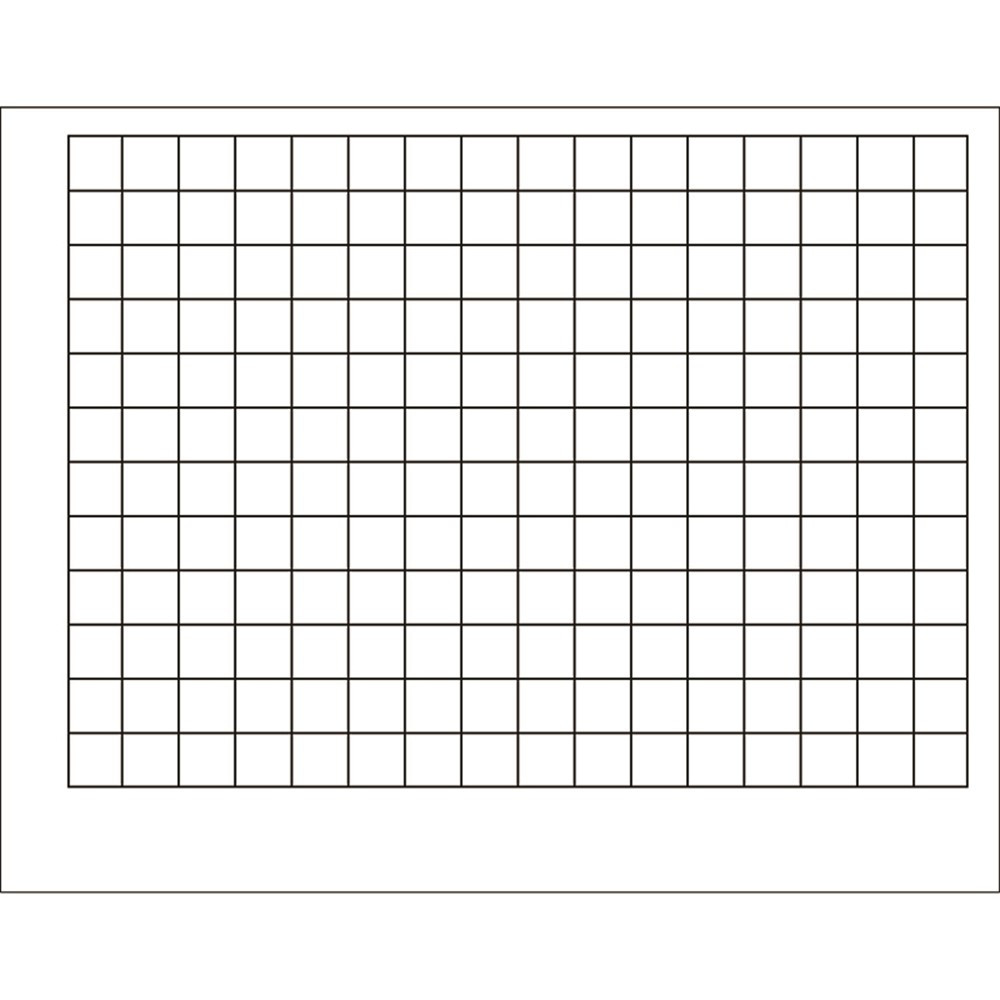 T-1092 - Wipe-Off Chart Graphing Grid 1-1/2 Inch Squares 22 X 28 in Miscellaneous