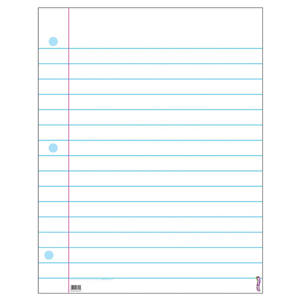 T-1095 - Wipe-Off Chart Notebook Paper 22 X 28 in Language Arts