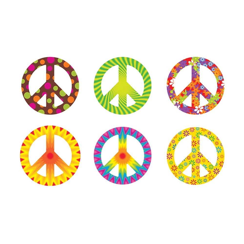 T-10983 - Peace Signs Patterns Classic Accents Variety Pack in Accents
