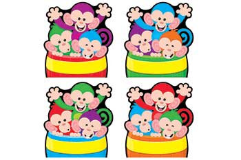 T-10993 - Monkey Mischief Barrels Of Fun Accents Variety Pack in Accents