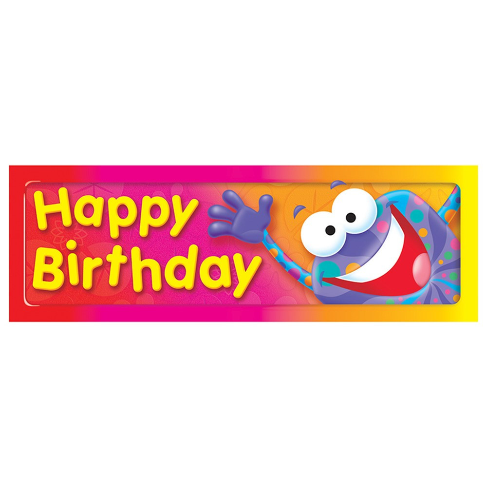 T-12061 - Happy Birthday Frog-Tastic Bookmarks in Bookmarks
