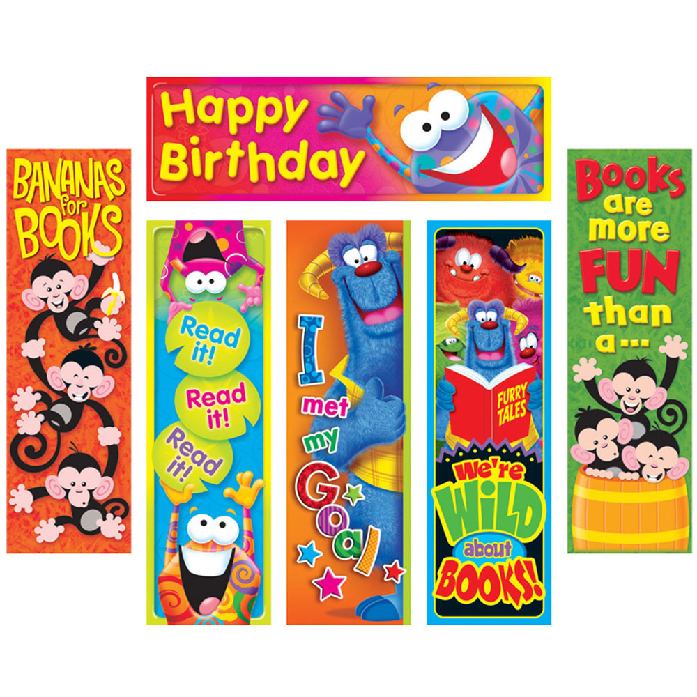 T-12909 - Clever Characters Bookmarks Variety Pack in Bookmarks