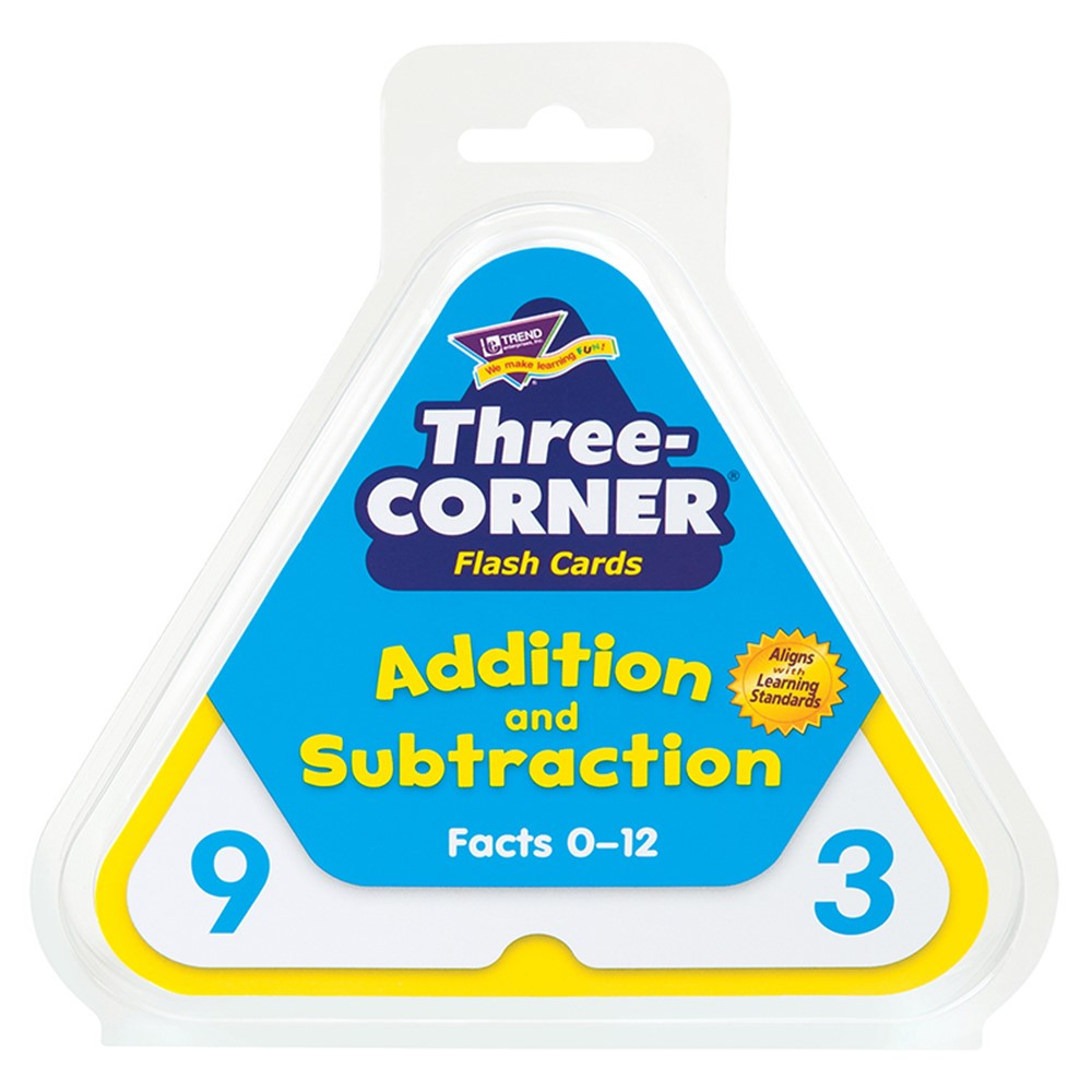 T-1670 - Three-Corner Flash Cards 48/Pk Addition & Subtraction in Flash Cards