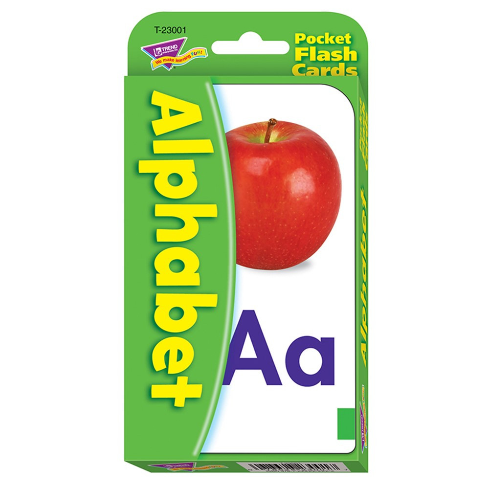T-23001 - Pocket Flash Cards Alphabet 56-Pk 3 X 5 Two-Sided Cards in Letter Recognition