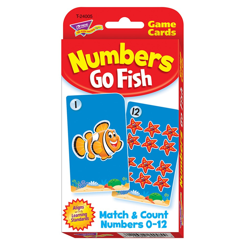 T-24005 - Challenge Cards Numbers Go Fish in Card Games