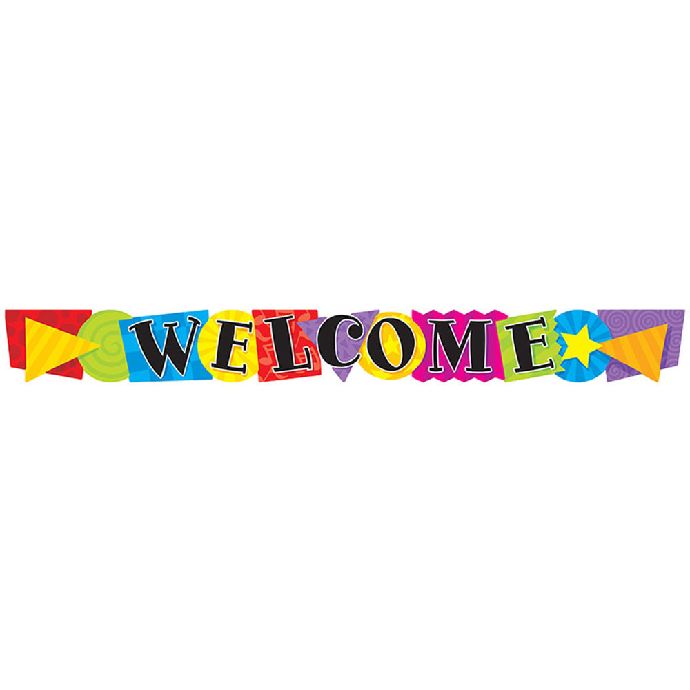 T-25021 - Banner Welcome Shapes 10 Horizontal in Banners