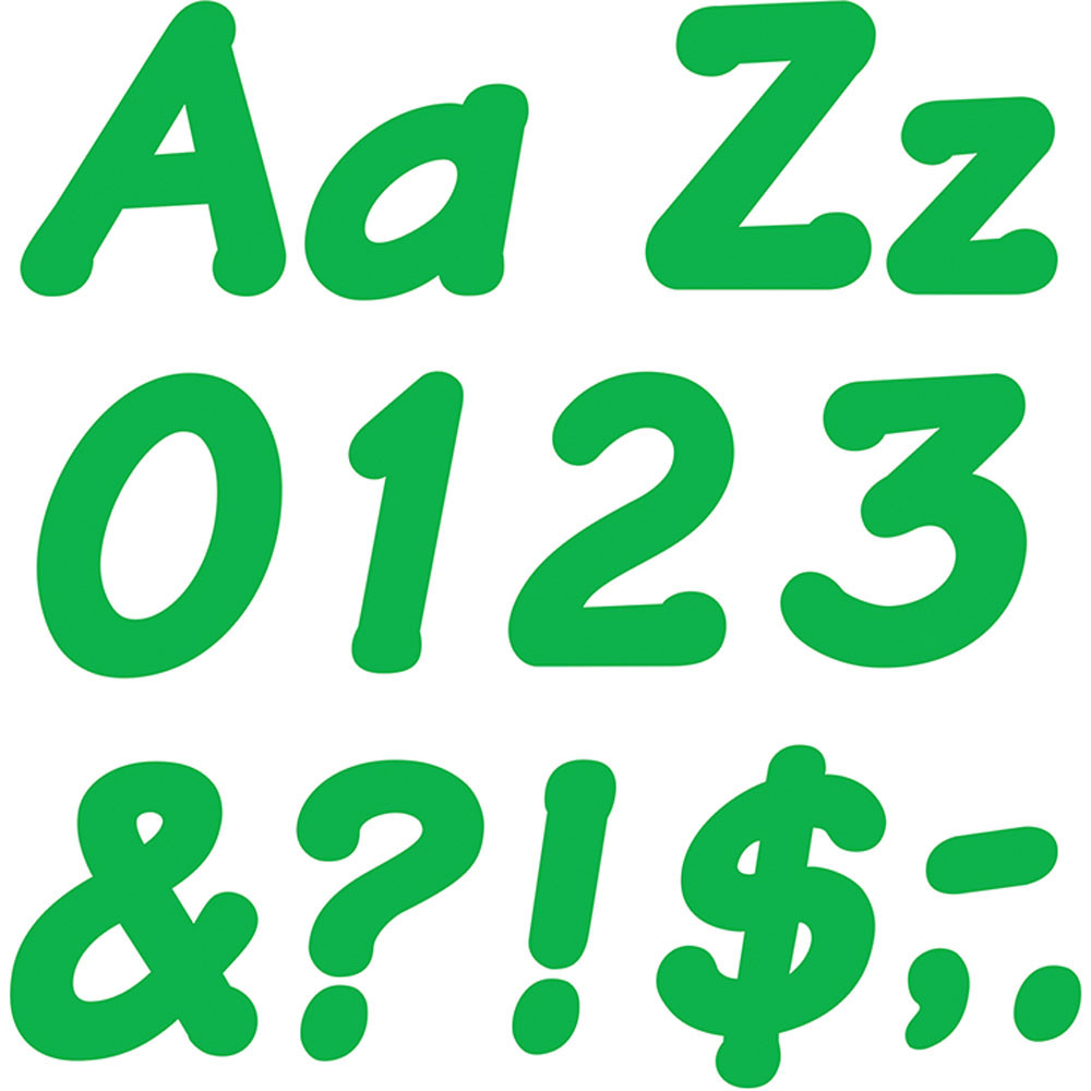 T-2705 - Ready Letters 4 Inch Italic Green in Letters