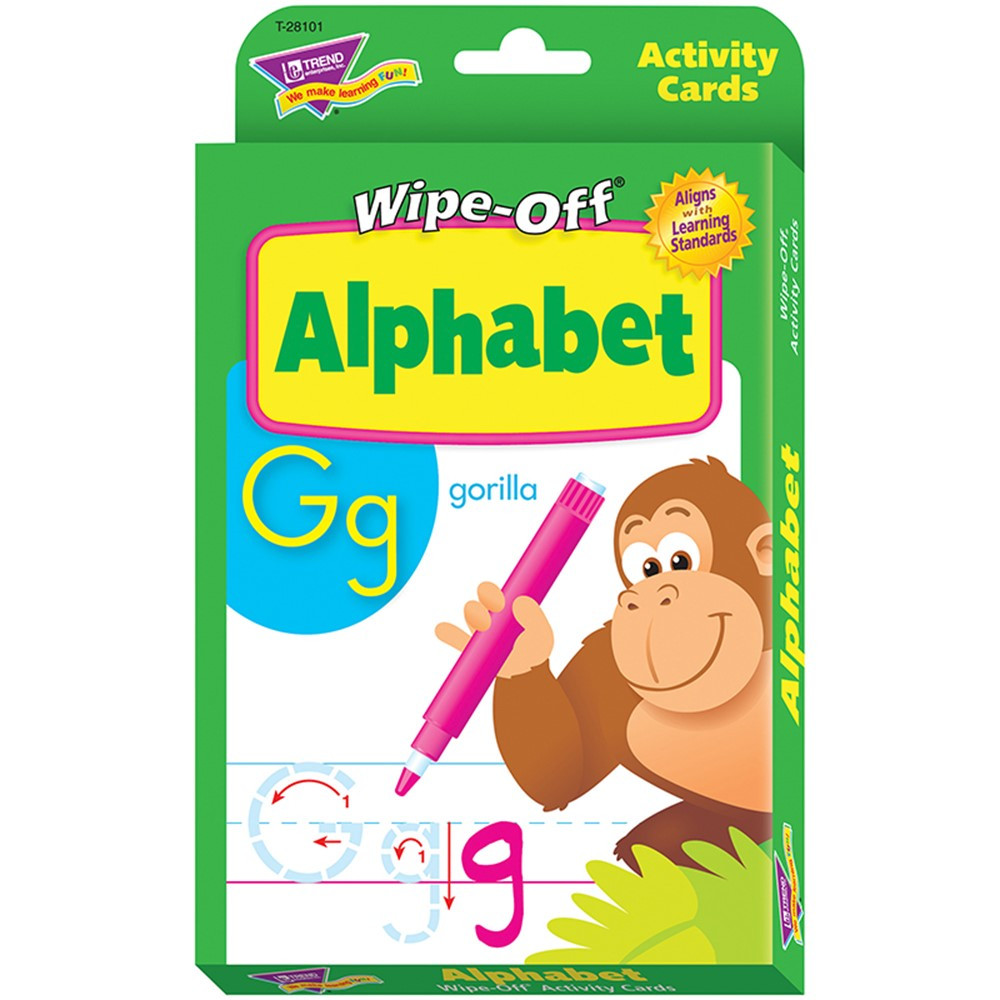 T-28101 - Alphabet Wipe Off Activity Cards in Letter Recognition