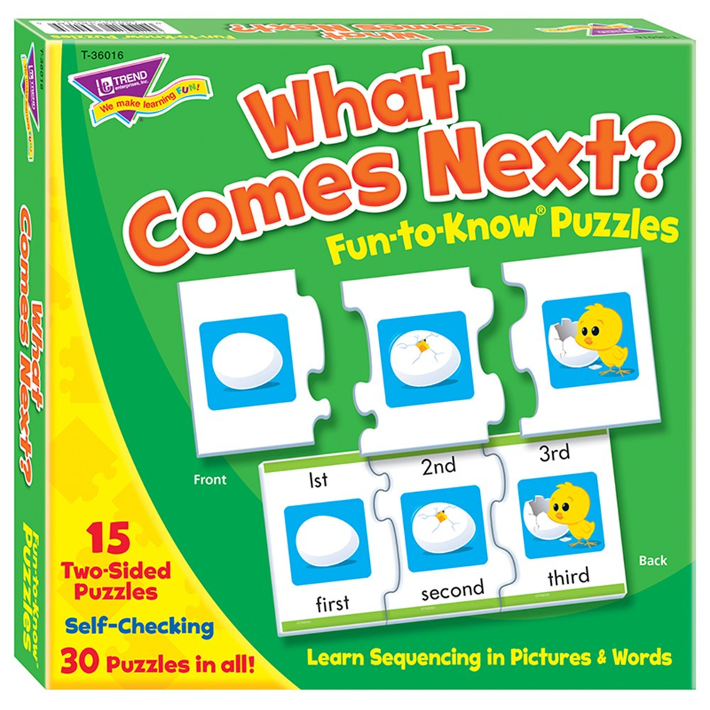 T-36016 - What Comes Next Sequencing Puz Fun- To-Know Puzzles in Puzzles