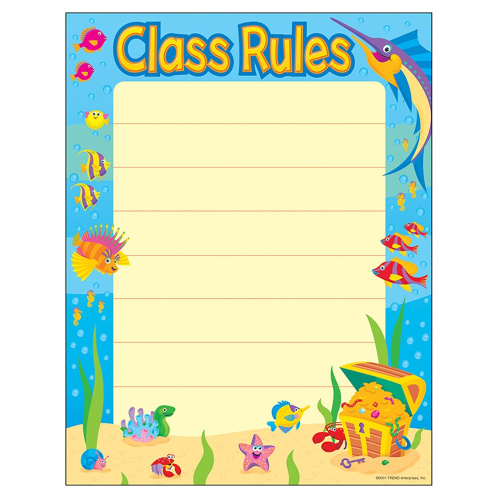 T-38005 - Chart Class Rules 17 X 22 Gr 1-2 in Miscellaneous