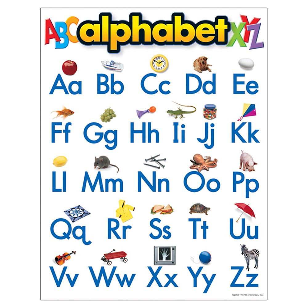 T-38026 - Chart Alphabet 17 X 22 Gr Pk-2 in Language Arts