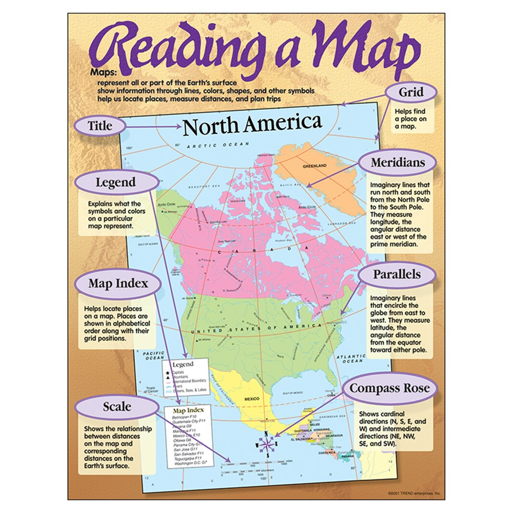 T-38066 - Chart Reading A Map in Social Studies