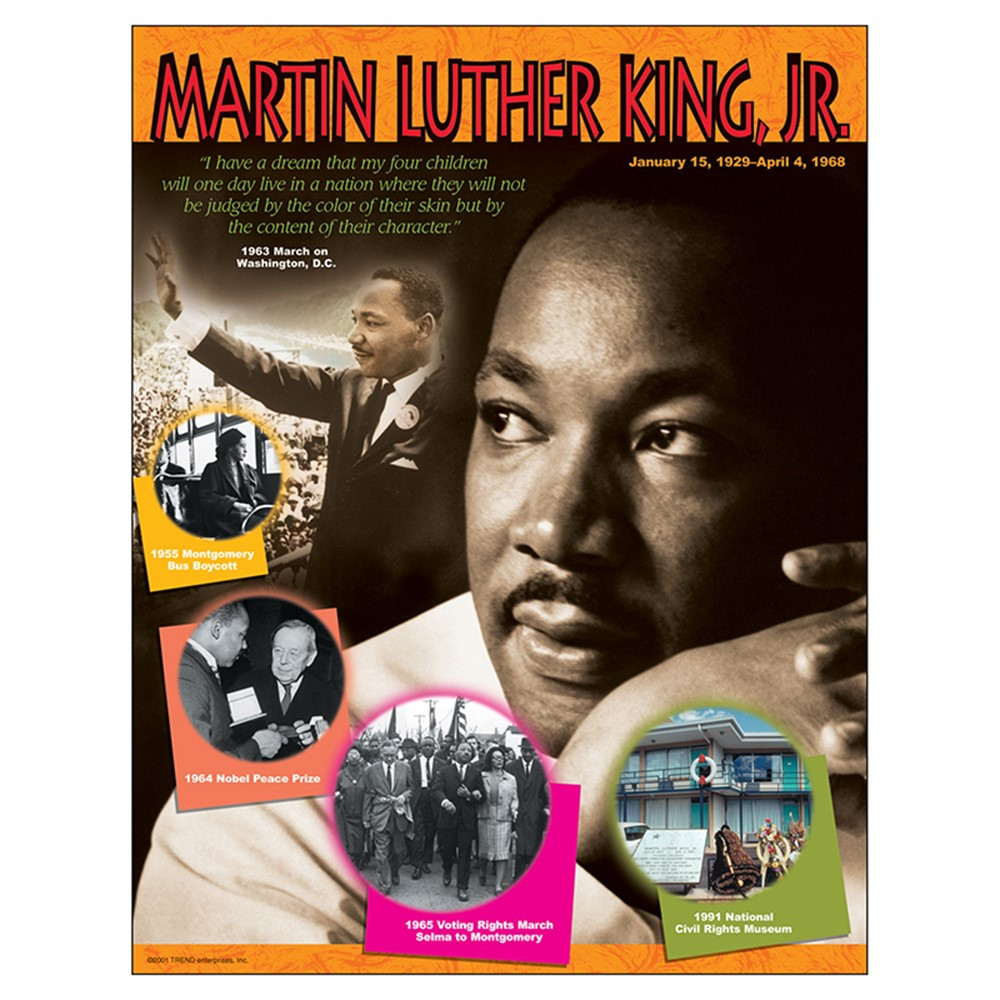 T-38099 - Chart Martin Luther King Jr Gr 4-8 17 X 22 in Social Studies
